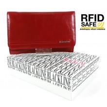 BLACKLINE RF védett, piros női pénztárca W8627-3