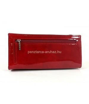 GIUDI dísztűzött, fém emblémás, piros lakk bőr pénz-és irattárca 6704GVL-05
