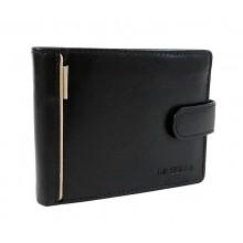 La Scala bézs bőr csíkos zárónyelves bőr pénztárca 15401/T