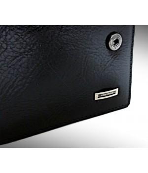 PRESTIGE fekete, kapcsos bőr férfi pénztárca PR36025