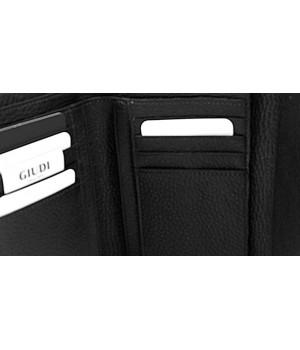 Fém zippes, fedeles,fekete Giudi női pénztárca 7050AE-03
