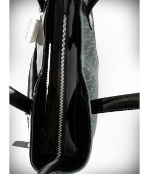 Rialto ferde zsebes fekete-szürke bőr divattáska RG1001CASTVL-BZ