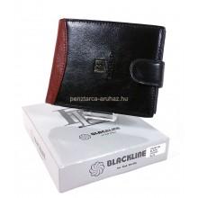 BLACKLINE kapcsos fekete-barna férfi pénztárca M8287-5B