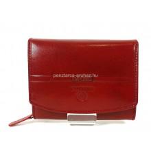 Valentini piros, íves fedelű,kis női bőr pénztárca 563586