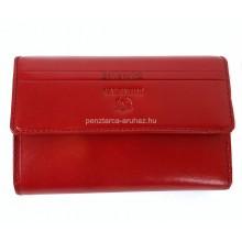 Valentini piros, szögletes fedelű,közepes női bőr pénztárca 563121