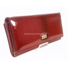KROKOMANDER piros, nagy, külső irattartós női bőr pénztárca SKJ11-021