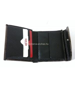 GIUDI sötétezüst metál kis női pénztárca 6470BLAAE-BZ