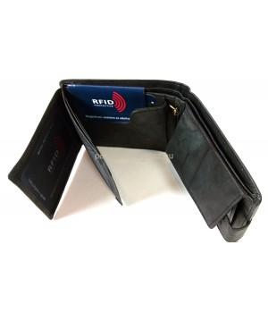 Green Deed fekete, patentos nyelves, erezetes pénztárca XGR11214T
