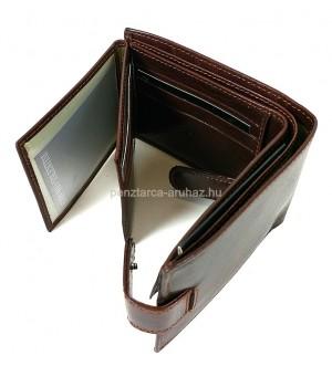 Valentini, kisebb, lepatentolható válaszfalas barna bőr pénztárca 563562