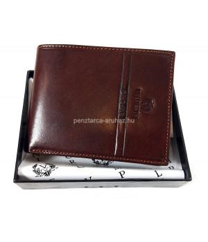 Valentini oldalfalas aprótartós barna férfi bőr pénztárca 563-288