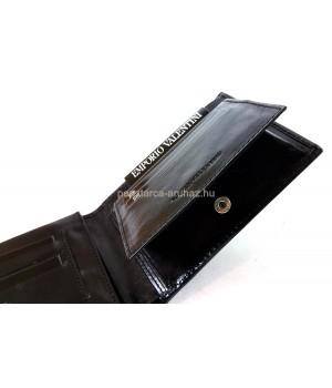 Valentini oldalfalas aprótartós fekete férfi bőr pénztárca 563288