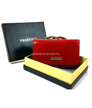 PRESTIGE piros, keretes bőr pénztárca PRF46001