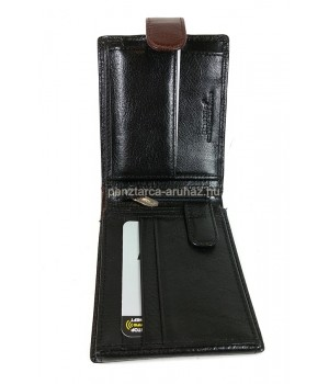 BLACKLINE RfFvédett, kapcsos fekete-barna férfi pénztárca M8287-5B