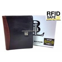 BLACKLINE RF védett, fekete-barna férfi irattárca M7038-5