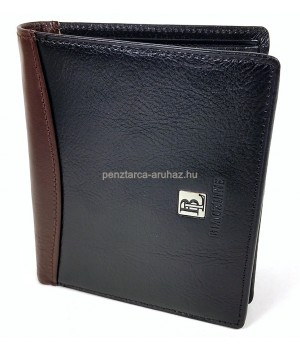 BLACKLINE RF védett, fekete-barna széles irat és pénztárca M8032-5B