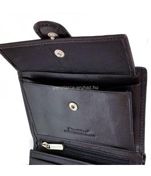 BLACKLINE RF védett, nyelves fekete férfi pénz és irattartó M8036-3