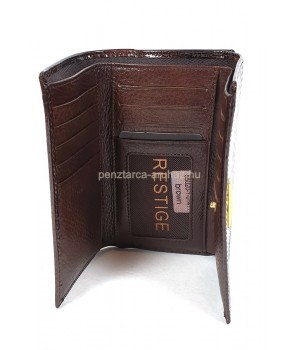PRESTIGE barna, két oldalas krokkó lakk bőr női pénztárca-zippes 55020-1