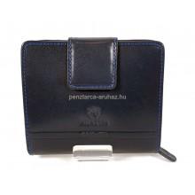 Valentini álló fazonú kék női bőr pénztárca 563182