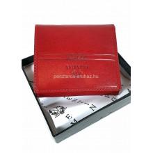 Valentini oldalfalas apró tartós piros kis bőr pénztárca 563146