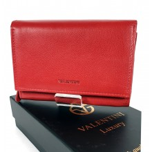Valentini piros, közepes , belső zippes női bőr pénztárca 306-844