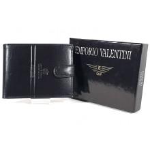 Valentini fekete férfi patentos bőr pénztárca 563260