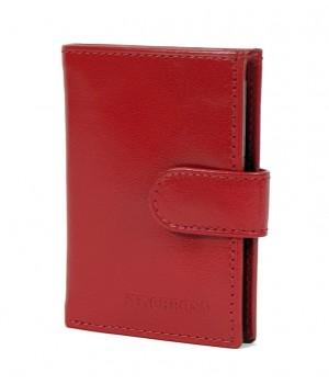 Synchrony RFID védett piros álló bőr kártyatartó RG2038