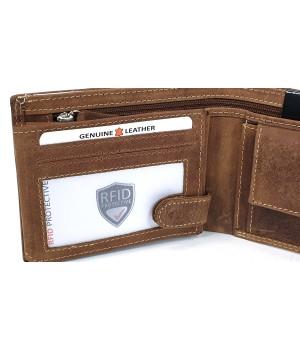 Giorgio Carelli vizslás, rugalmas nyelves bőr pénztárca RFID 677797-661