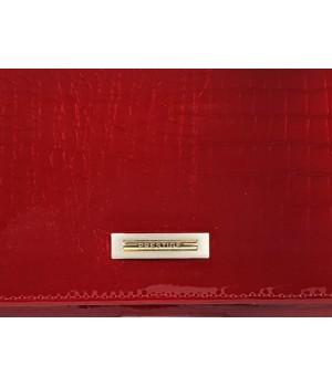 PRESTIGE piros krokkó lakk bőr, női hosszú belső keretes pénztárca PRL72032