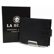 LA SCALA fekete férfi pénz és irattartó tárca ACA9641T