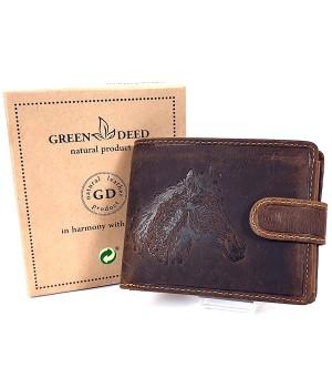 Green Deed lófejes, nyelves bőr pénztárca LEF1021T