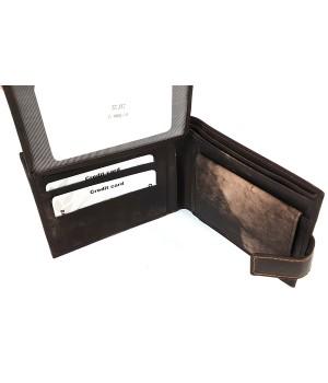 GIULTIERI márványos barna-márványos nyelves bőr pénztárca SCJ37
