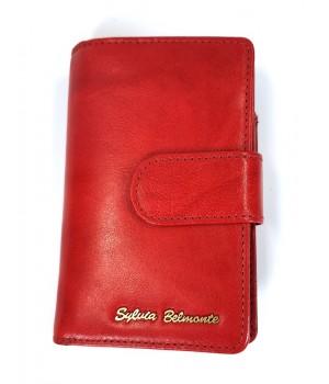 Sylvia Belmonte közepes piros női bőr pénz és irattartó tárca ZEN192