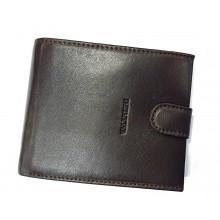 Valentini patentos puha bőr pénztárca-sötétbarna 306-298