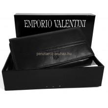 Valentini  hosszú irattartós, fekete női bőr pénztárca 563155