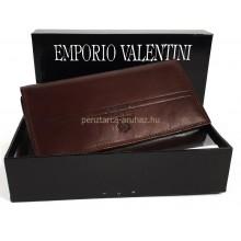 Valentini  hosszú irattartós, barna női bőr pénztárca 563155