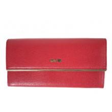 GIUDI piros, arany szegélyes hosszú pénztárca 7324CRF-05