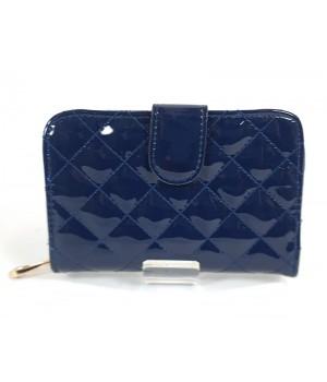 Steppelt kék műlakk női divatpénztárca AL02