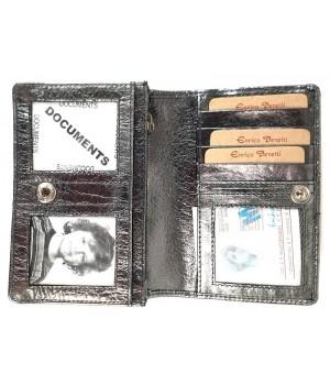 Erico Benetti metálezüst női bőr divat pénztárca EB52100