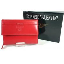 Valentini piros, szögletes fedelű, kétoldalas női bőr pénztárca 563208