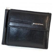 BLACKLINE csapó pántos, aprótartós, fekete dollár pénztárca M8020-3
