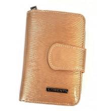 Lorenti RF védett két oldala,s arany-pezsgő színű lakk bőr pénzt és irattárca 76115