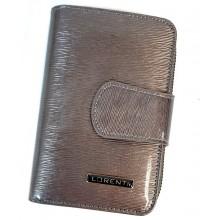 Lorenti RF védett két oldalas bronz-szürke színű lakk bőr pénzt és irattárca 76115