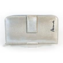 Alessandro Paoli RF védett, cirmos, pezsgő színű lakk, kétoldalas pénztárca 21-17