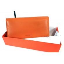 VALENTINI narancssárga, nagy, külső irattartós női bőr pénztárca 306-155
