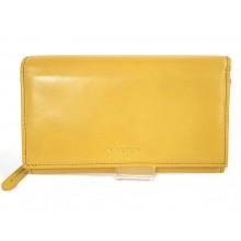 VALENTINI sárga, nagy, külső irattartós női bőr pénztárca 306-155