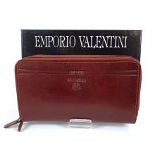 VALENTINI barna, dupla zippes nagy női bőr pénztárca 363-512