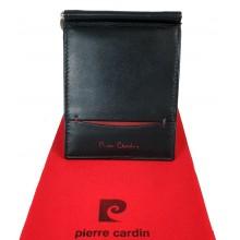 Pierre Cardin csapó pántos, fekete, piros betétes dollár pénztárca 885807