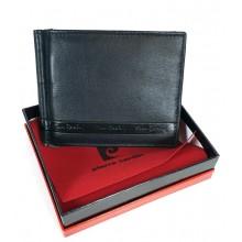 Pierre Cardin csapó pántos, aprótartós, fekete dollár pénztárca 885836