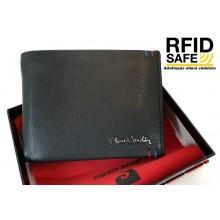PIERRE CARDIN szabadon nyíló, fekete RFID védett férfi pénztárca 880622