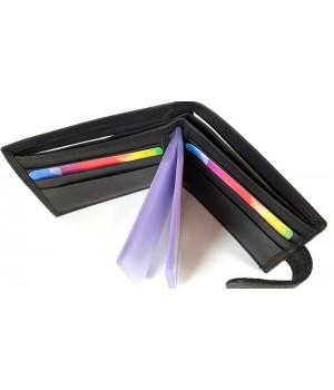 Farkas fekete kis papírpénztartós kártyatartó tárca 8668
